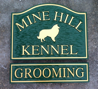 Customized Store Front Signs - Pet Grooming and other Business  (B47) - The Carving Company