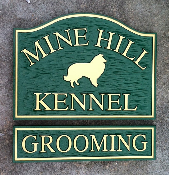 Mine Hilll Kennel and Grooming Sign -front2