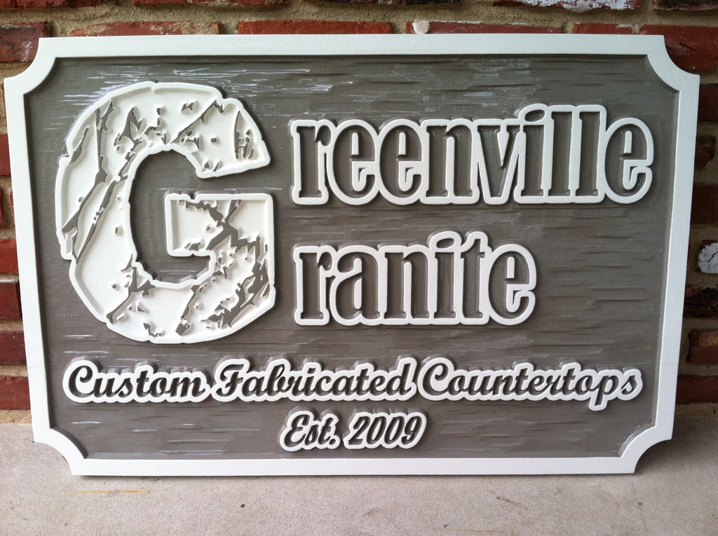 Custom Made Dimensional Professional Exterior Business Signs (B16) - The Carving Company