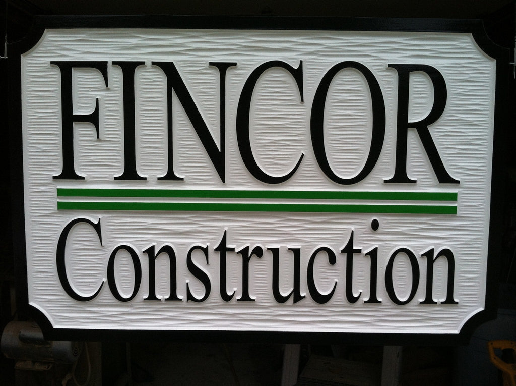 Custom Carved Dimensional Professional Exterior Business Sign (B17) - The Carving Company