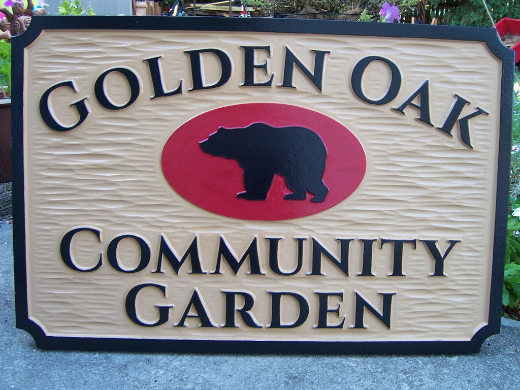 Community Garden Sign The Carving Company