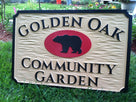 Community Garden Sign (B25) - The Carving Company