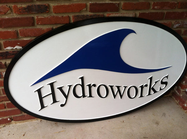 Hydroworks smooth background business sign - iso 1