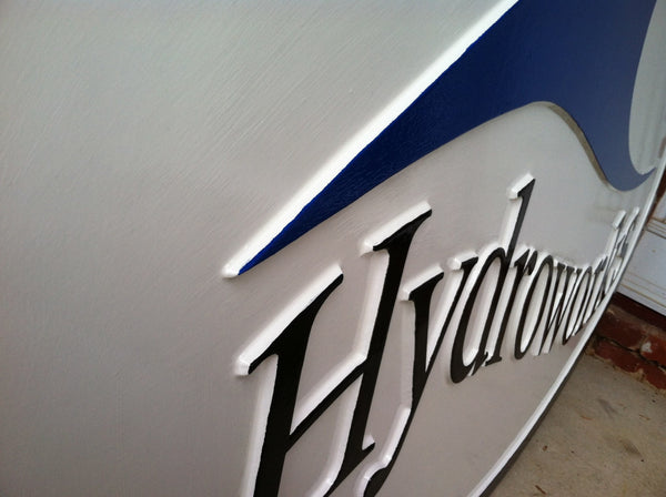 Hydroworks smooth background business sign - iso 2