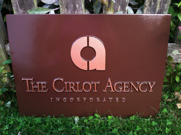 Cirlot Agency custom logo business sign -front