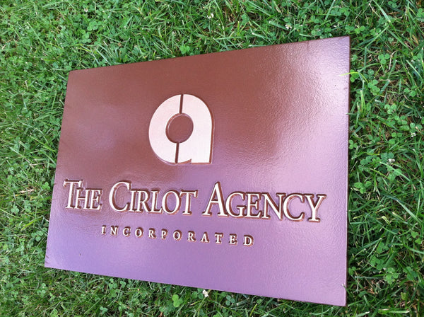 Cirlot Agency custom logo business sign -iso3