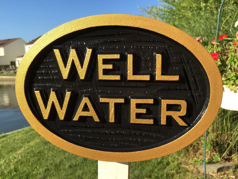 Well water sign - front