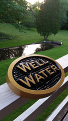 Carved Well Water notice Plaque- Irrigation Sign (LN24) - The Carving Company