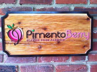 Professional Carved Business Signs - Custom Made Retail Displays (B12) - The Carving Company