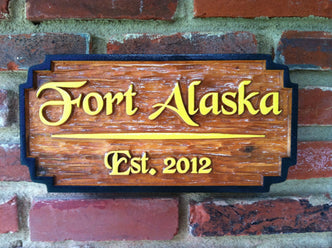 Personalized Cedar Camp Sign (C4) - The Carving Company