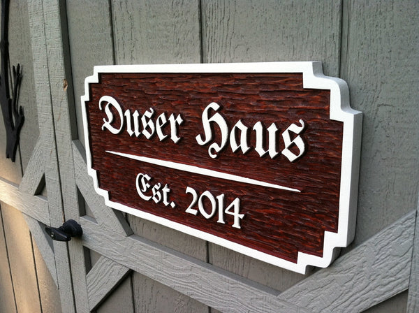 Cedar bar sign with German style font -iso2