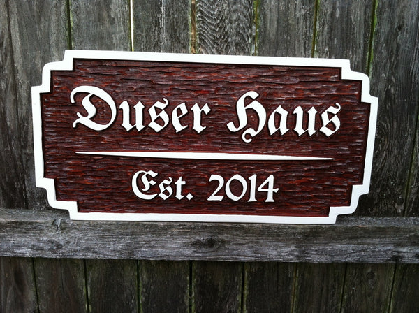 Cedar bar sign with German style font -front2