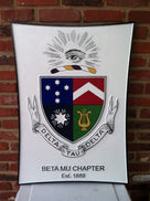 Customized Fraternity or Sorority Crest Carved Plaque (FC3) - The Carving Company