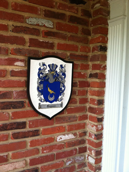 Coughlan family crest sign on shield shape -iso