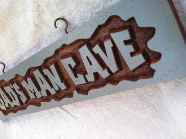 Dads man cave sign rectangle