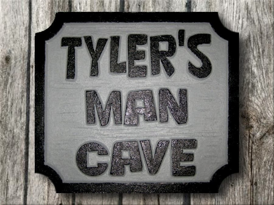 Man Cave Plaques Signs : Perfect for your man cave wooden plaque sign ebay