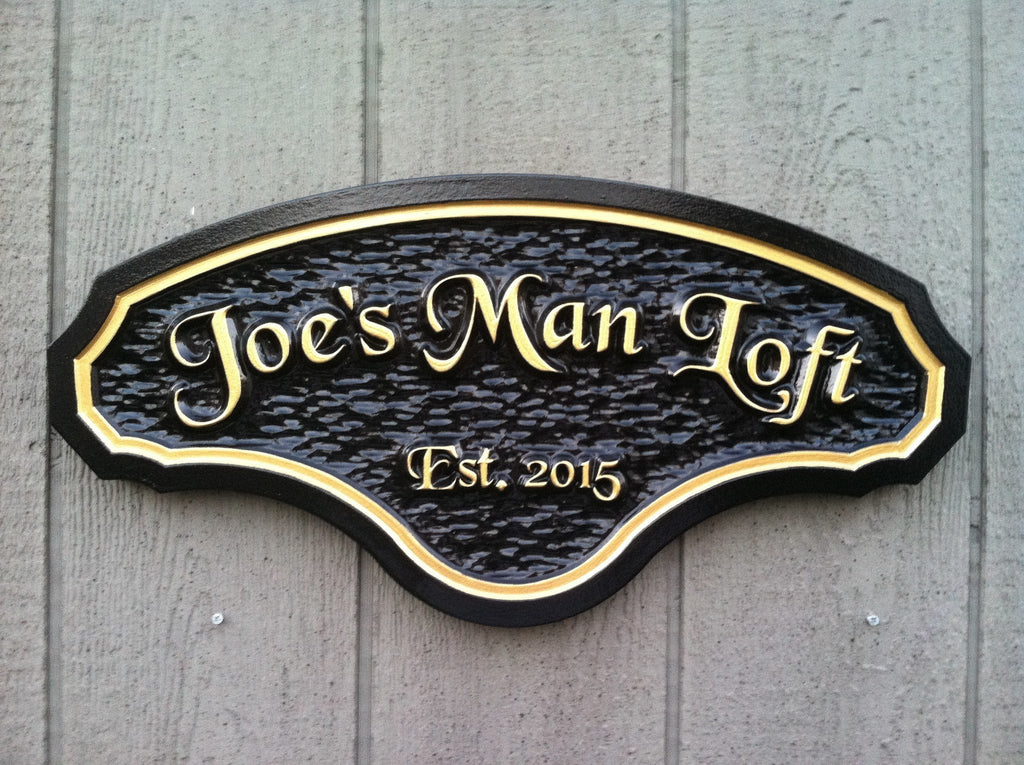 Custom Carved Man Cave Sign (MC8) - The Carving Company