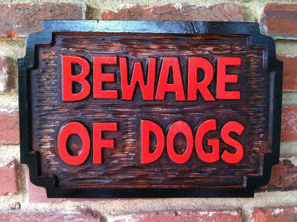 Cedar beware of  dog name sign -front3