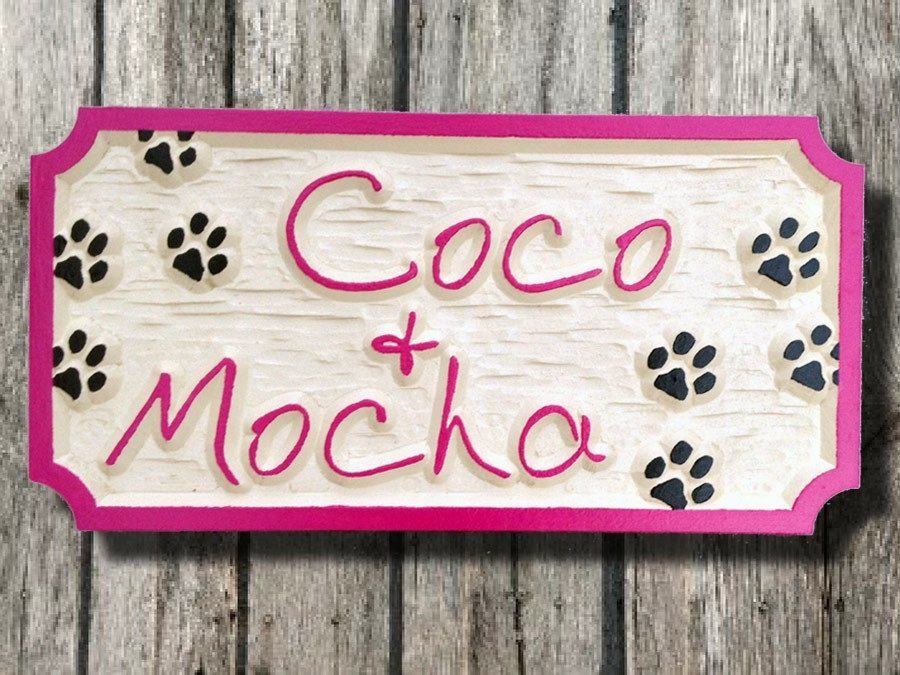 Personalized Pet sign - 2 names (P1) - The Carving Company