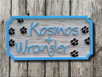 Personalized Pet Name sign - 2 names (P2) - The Carving Company