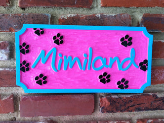 Personalized Pet Name sign  (P4) - The Carving Company