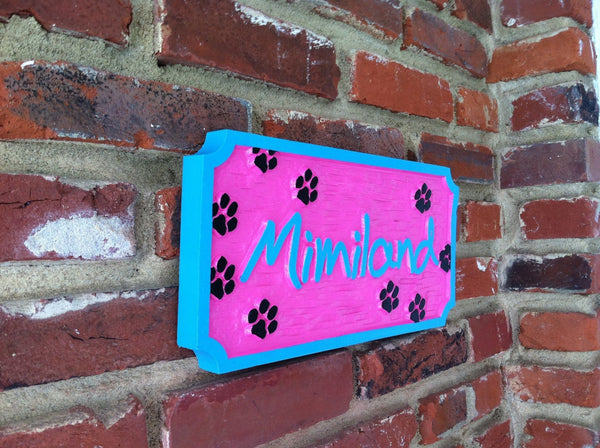 Single name personalized pet sign