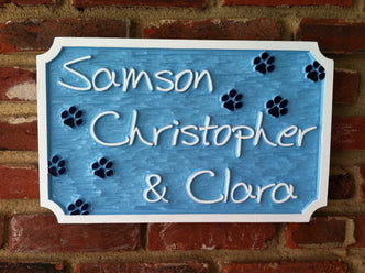 Personalized Pet Name sign - 3 names (P5) - The Carving Company