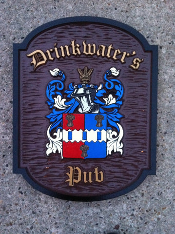Drinkwaters Pub crest sign