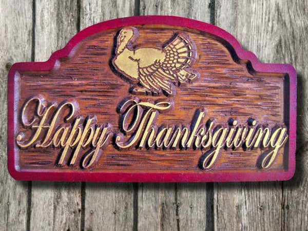 Happy Thanksgiving centerpiece sign