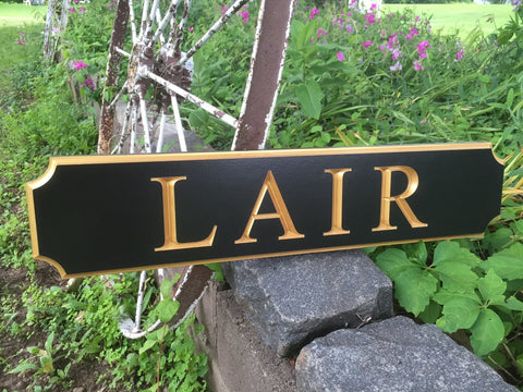 Lair quarterboard sign