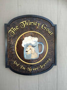 Custom Carved Bar or Pub Sign - Personalized - Made To Order (BP52) - The Carving Company