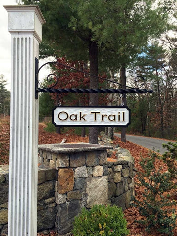 Oak trail estate sign on sign post