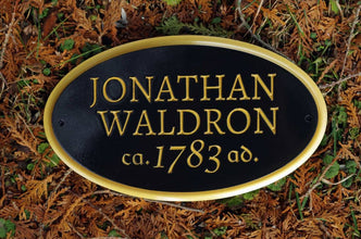 Custom Carved Builders Name Sign / Historic Founder Sign with circa year (LN46) - The Carving Company