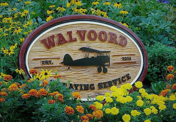 Custom business sign for Walvoord Spraying Services