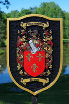 Custom Historic Family Crest Sign - Coat of arms (FC15) - The Carving Company