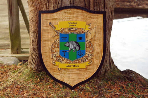 oak family crest sign