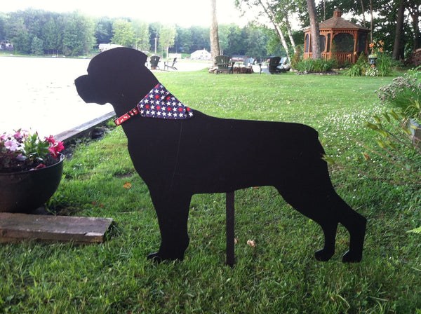Dog silhouette sign PVC