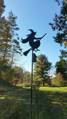 Halloween Silhouettes Flying Witch on a Broomstick - The Carving Company