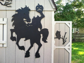 Headless Horseman Halloween Yard Silhouette - The Carving Company