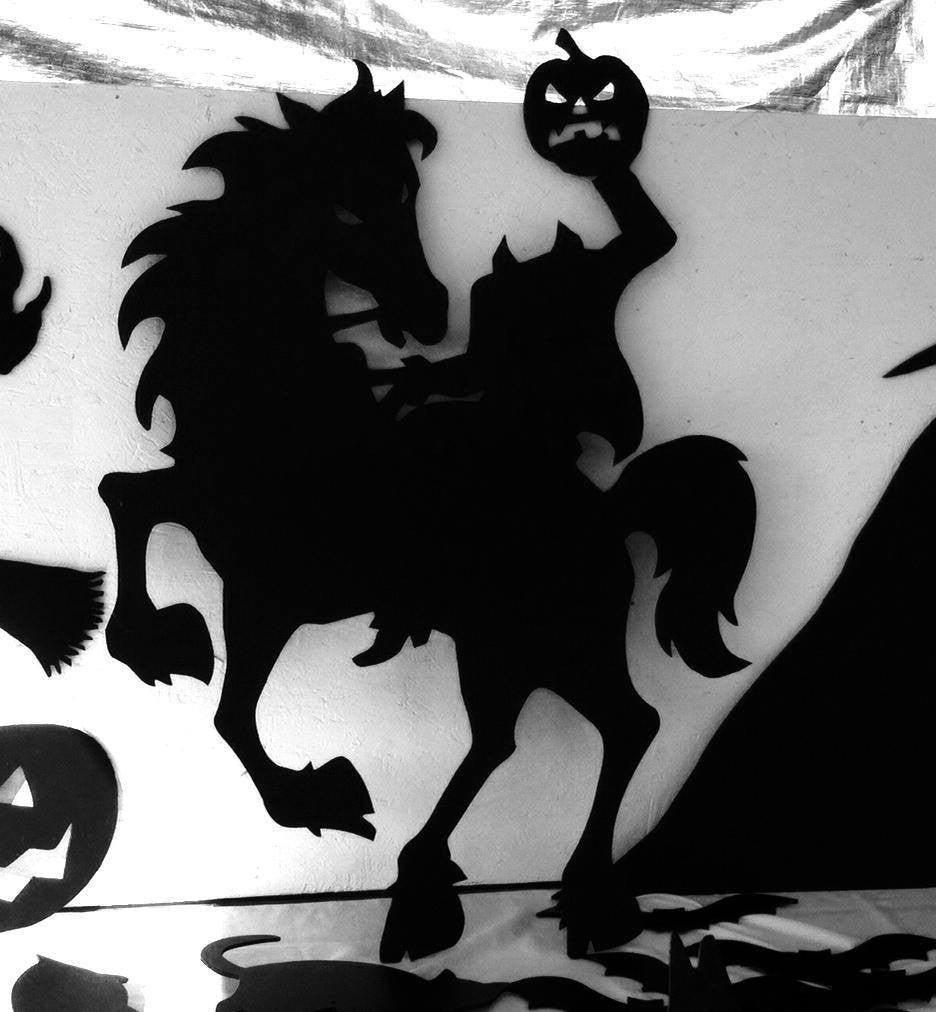 Headless Horseman Halloween Yard Silhouette – The Carving Company