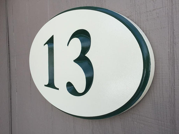 oval house number