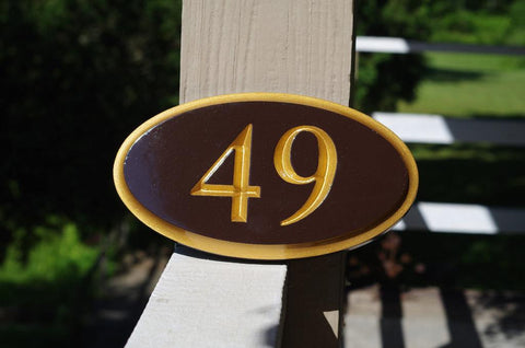 oval house number sign