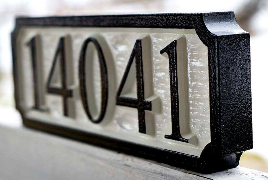 Custom Street Address Sign Rectangle / House number (A69) - The Carving Company