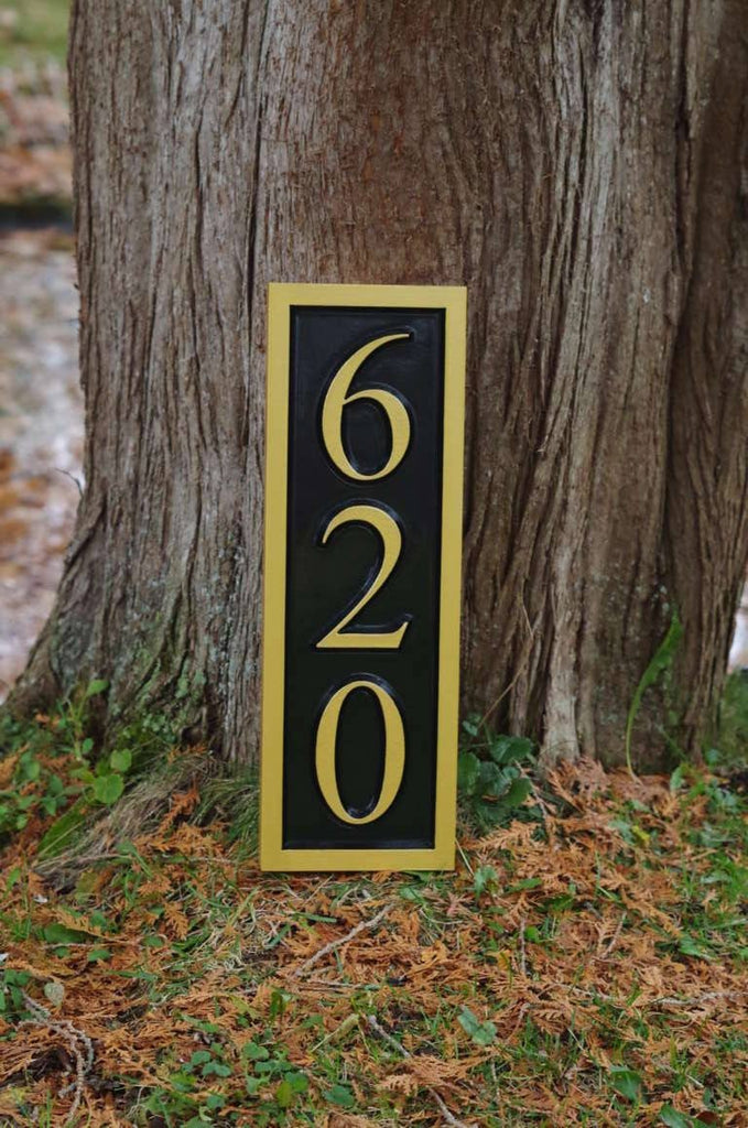 Vertical Address Sign Create Your Own House Number