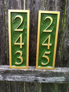 3 digit vertical house number signs