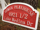 Child's Playhouse Sign with half number (K4) - The Carving Company