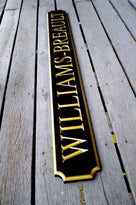 Classic Custom Carved Quarterboard sign - add your name (Q17) - The Carving Company