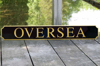 Classic Custom Carved Quarterboard sign - add your name (Q27) - The Carving Company