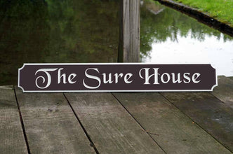 Classic Custom Carved Quarterboard sign - add your name (Q29) - The Carving Company