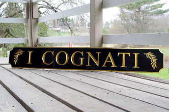 Custom Carved Cape Cod Quarterboard sign with image - Add your name (Q18) - The Carving Company